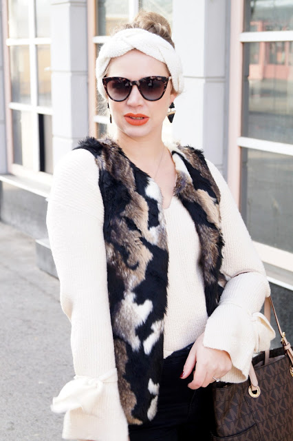 Streetstyle winter neutral and chic in brown, creme and