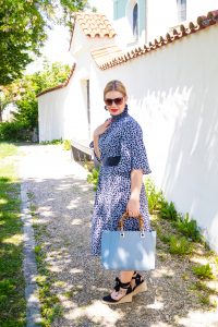 summerdress, summer 2019, dress addict, high neck style, espadrille, summer style, bamboo handle bag, spanish vibes