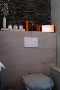 powder bath, room reveal, house tour, home decor, decoration