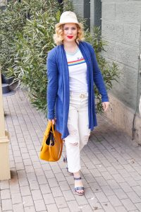 white on white, summer style, straw hat, Ralph Lauren, red lips, summer fashion, Mickey Mouse, summer 2019, fashionista, Disney style