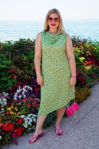 summer dress, millefleurs, pink, summer style, vacation style, maternity dress, dresslover, lake garda, ootd, summer 19, green flower dress
