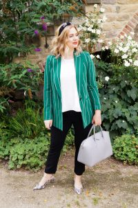 pinstripes, snake print, fashion prints, fashion blogger, Madame Schischi, autumn style, work look