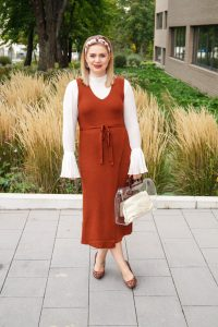 fall fashion, autumn style, maroon colored, feminine fall style, chic work wear, fall, knit dress, leopard print, Mango, H&M