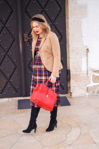 plaid, holiday style, business look, red for christmas, christmas time, dress the bump, maternity style, working girl, office look, fashionblogger, styleblogger, fashion, Madame Schischi