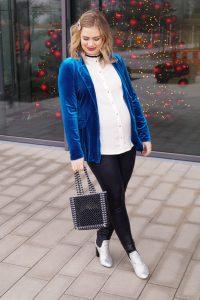 NYE, New Years Eve, festive style, fashionblogger, fashion, velvet blazer, pearl handbag, glitter boots, Madame Schischi, fashion, styleblogger, holiday style