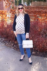 fashionblogger, fashion, pregnancy style, dress the bump, maternity style, polka dots, spring trends, styleblogger