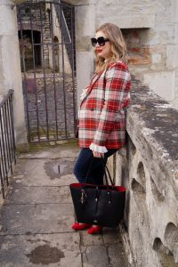 fashionblogger, fashion, dress the bump, maternity style, pregnancy style, mom to be, mad for plaid, style blogger, Madame Schischi, transitioning into spring