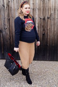 fashion blogger, fashion, amazon favorite, amazon purchase, pregnancy style, rock´n roll sweater, rolling stones theme, maternity style, coach handbag, dress the bump, mom to be