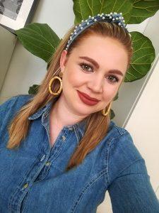 beauty, beauty post, mom style, mom look, easy make-up look, make-up, lipstick addiction, denim dress