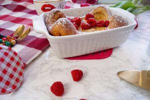 recipe, breakfast, breakfast recipe, dutch baby, baked pancake, oven pancake, pancake
