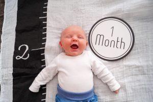 1 month update, baby update, baby progress, 1 month, baby girl