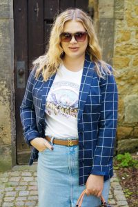 fashionblogger, fashion, business casual, band t-shirt, how to style a band tee, what to wear, coach handbag, van halen band shirt, denim style, instyle, ralph lauren