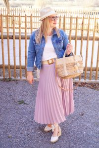fashionblogger, fashion, outfitpost, lavender, spring outfit, spring style, spring, what to wear, how to style, straw accessories