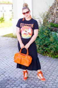 fashion blogger, style post, fashionista, band t-shirts, Madame Schischi, summer style, summer, black for summer, fashion post