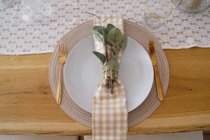 home decor, table scape, gingham table decor, home decoration, house decor, entertaining, hosting, farm glam, leopard print