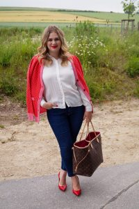 fashionblogger, fashion, LV Neverfull, red x pink, style blogger, fall style, transitioning into fall, ootd, what I wear, how to style