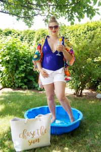 fashionblogger, bathing suit, summer, summer style, pool day, dog pool, social distancing, garden vacation, swimming, style blogger, how to style, what to wear