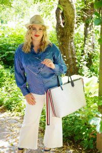 fashionblogger, white culotte, summer denim, tommy hilfiger, what I wear, ootd, how to style, summer, summer style