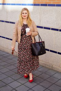 fashionblogger, fashion, fall fashion, autumn style, casual style, mom style, ootd, what I wear, how to style, leather jacket, flower dress