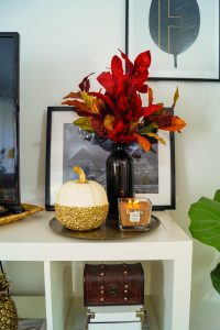 house, home decor, fall decor, pumpkins, autumn decor, fall, autumn, leopard print pumpkin, studded pumpkin