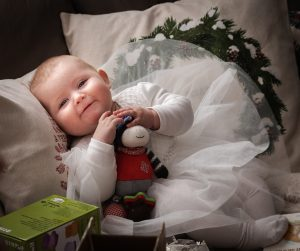 baby girl baptism, blessing, mommy and me, mommy and mini, christmas tree, family pictures