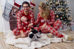 patpat, christmas, christmas pajamas, holiday decor, family photo, mommy and me, mommy and mini, christmas decor, christmas tree, fireplace, stockings