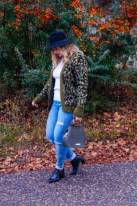 fashionblogger, fashion, winter fashion, winter style, casual style, mom style, ootd, what I wear, how to style, leopard print, distressed denim, Katie Loxton