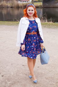 fashionblogger, fashion, spring, spring fashion, style inspo, what to wear, how to style, red hair, red head, womans fashion, denim, stud heels, affordable fashion