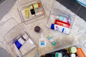bathroom organization, bathroom, bloggers home, house, home decor, storage solutions,
