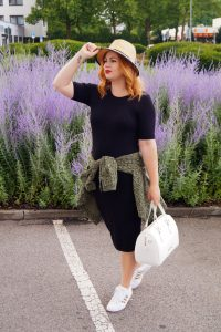 fashion blogger, fashion addict, adidas sneakers, knit dress, dress challenge, 31 dresses of summer, how to style, what to wear, feminine style