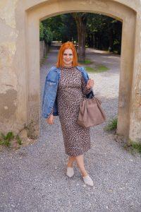 leopard print, fall style, pre fall look , fall fashion, fall, red head, red hair, denim jacket